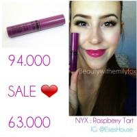 SALE Nyx Butter Gloss Raspberry Tart : lipgloss original termurah