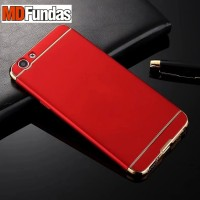 Casing HP 3 in 1 Protection Case Red Oppo F1s
