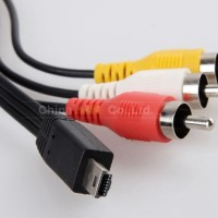 AV Cable Mini USB to 3 RCA Canon 60D 70D 7D 700D 600D 100D SX50 SX60