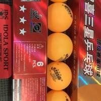 Bola pingpong / tenis meja DHS (Orange isi 6)