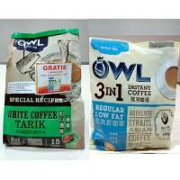 Jual Promo!! OWL White Coffee Tarik 3IN1 Hazelnut 15'S (free OWL Kopitiam ) Murah