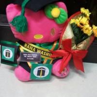 Jual boneka wisuda hello kitty pink fanta 25cm lengkap Murah