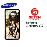 Casing HP Samsung C7 batik wayang Custom Hardcase Cover