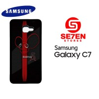 Casing HP Samsung C7 Deadmau5 Red Stripe Custom Hardcase Cover