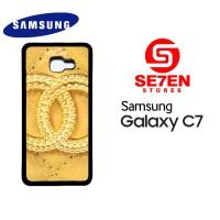 Casing HP Samsung C7 chanel goldi Custom Hardcase Cover
