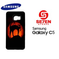 Casing HP Samsung C5 Cat Halloween Pumpkin Custom Hardcase