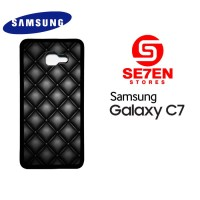 Casing HP Samsung C7 Black Quilted Leather Custom Hardcase Cover