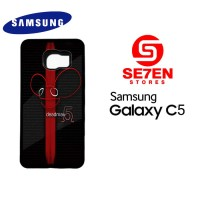 Casing HP Samsung C5 Deadmau5 Red Stripe Custom Hardcase Cover
