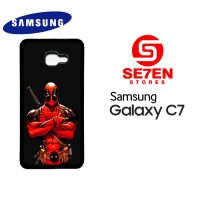 Casing HP Samsung C7 deadpool comics red Custom Hardcase Cover