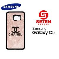 Casing HP Samsung C5 Chanel logo Pink Custom Hardcase