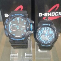 JAM TANGAN COUPLE CASIO BABY-G-SHOCK BLACK BLUE KW SUPER