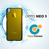 Custom Casing HP Oppo Neo 9 A37 Apple Iphone Gold Logo