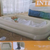 kids travel single air bed 3 - 10 tahun intex 66810 kasur angin pompa