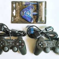 Paket Joystick / Gamepad ( 2 Stik PlayStation + 1 Converter )