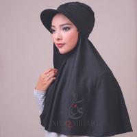 Hijab Instant Turban Topi Traveller - Hitam