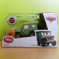 Disney Store 10th Die Cast Cars - Jeep Sarge