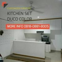 Kitchen Set Duco Minimalis, Kayu Jati Belanda