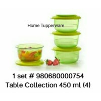 Tupperware Table Collection 450 ml (Isi 4 pcs)