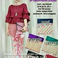 Jual Set peplum+batik Murah