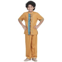 Promo Baju Muslim Azka Koko Anak KaSK-23 Gold (Koko+Celana) Terlaris