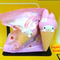 Jumbo ice cream cone melody squishy es krim monas with packaging