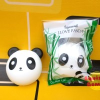 Jual The panda head squishy vlampo i love panda replika with packaging Murah