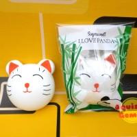 Jual The cat head squishy vlampo kucing i love panda replika with packaging Murah