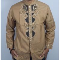 Busana Muslim Baju Lengan Panjang Kuning Gold Koko Trend 2017 Bagus