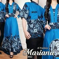 707#manohara baju muslim Couple batik blue