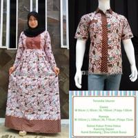 ANISYA TOSCA Baju Sarimbit Gamis Batik Couple Batik Pasangan