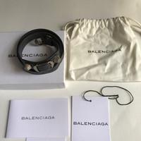 Gelang Balenciaga Arena Double Wrap Bracelet Gris Tarmac