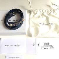 Gelang Balenciaga Arena Double Wrap Bracelet Bleu Mineral