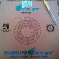 Selang Gas LPG Blue Gaz SNI 1,8m Pelindung Alumunium Spiral