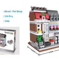 LOZ Mini block Street Mini - 1506 - Pet Shop