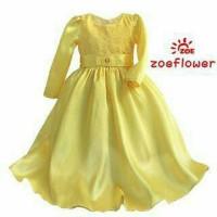 Summerfincor - Long Dress - Baju Muslim Anak Zoe Flower GD3106 Yellow