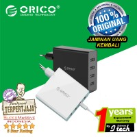 Jual ORICO DCW-4U 4 Port USB Wall Charger - BLACK Murah
