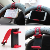 Holder Handphone Setir Mobil Tempel Stir Kemudi Smartphone HP GPS Goog