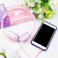 harga Headphone Headset Handsfree Super Murah Dan Lucu Macaroon Headphone Tokopedia.com