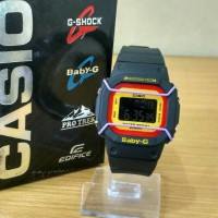 G-shock baby g dig black list yellow