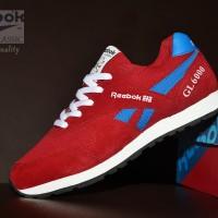 Sepatu Casual Reebok Classic Grade Ori / Merah Biru / sport kets pria