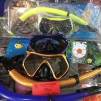 kacamata snorkeling / alat selam / diving tempered glass murah