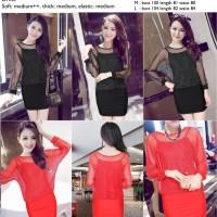 Dress pesta Merah, Hitam korean style