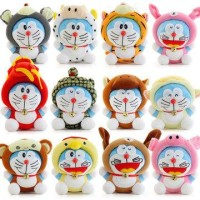 Jual Boneka Rekam karakter doraemon zodiac shio doll toy Murah