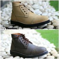 Sepatu Boots Pria Black Master Zara Kulit Asli Tracking Touring Hiking