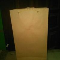 Jual PAPERBAG / PAPER BAG SANDAL HOTEL POLOS 28x5,5x16cm Murah