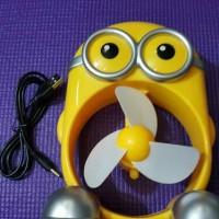 Jual kipas angin portable minion fan USB CHARGER unik bikin adem Murah