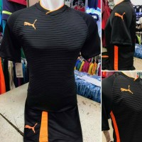 setelan futsal Printing puma Garis Hitam List orange/jersey bola
