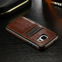 Leather back cover case samsung galaxy s6 edge