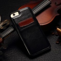 Leather back cover case iphone 5/5s
