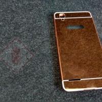Hardcase Aluminium Metal Bumper Mirror Cover Casing Oppo F1 Selfie A35